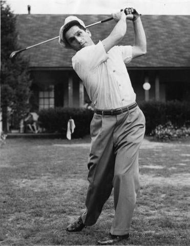 Mr. Lazaro had to learn to golf again after losing his sight in a mine blast in Italy during World War II.